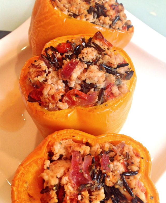 Skinny Turkey Stuffed Peppers