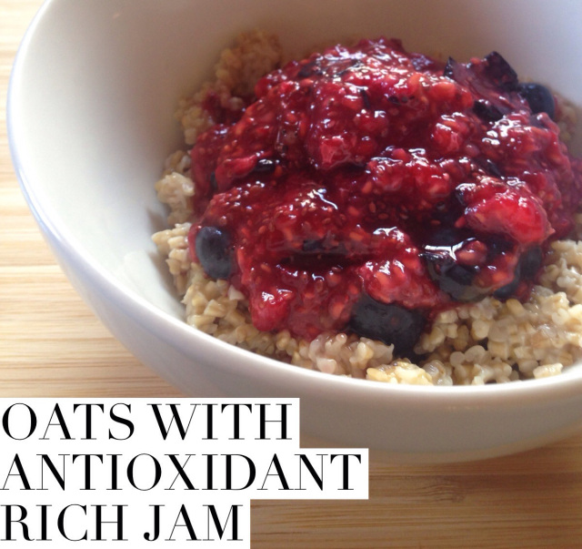 Oats with Antioxidant Rich Jam