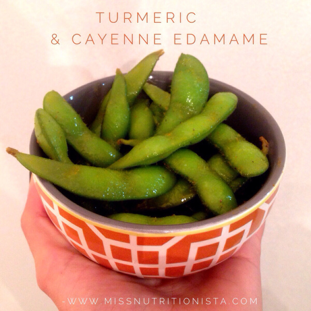 Best Edamame With Turmeric and Cayenne